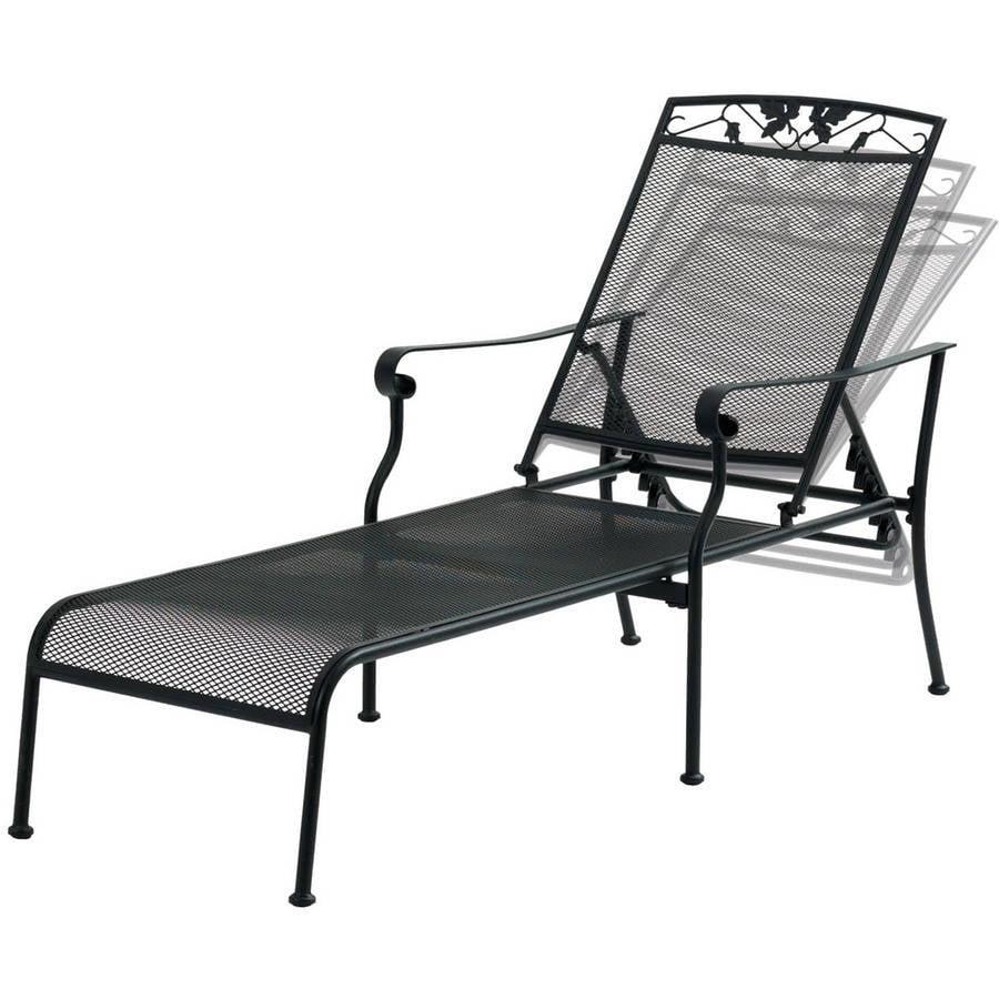 Mainstays Jefferson Wrought Iron Chaise Lounge, Black - Walmart.com