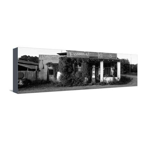 Pomona Storage (General Store, Pomona, Illinois, USA Stretched Canvas Print Wall Art )