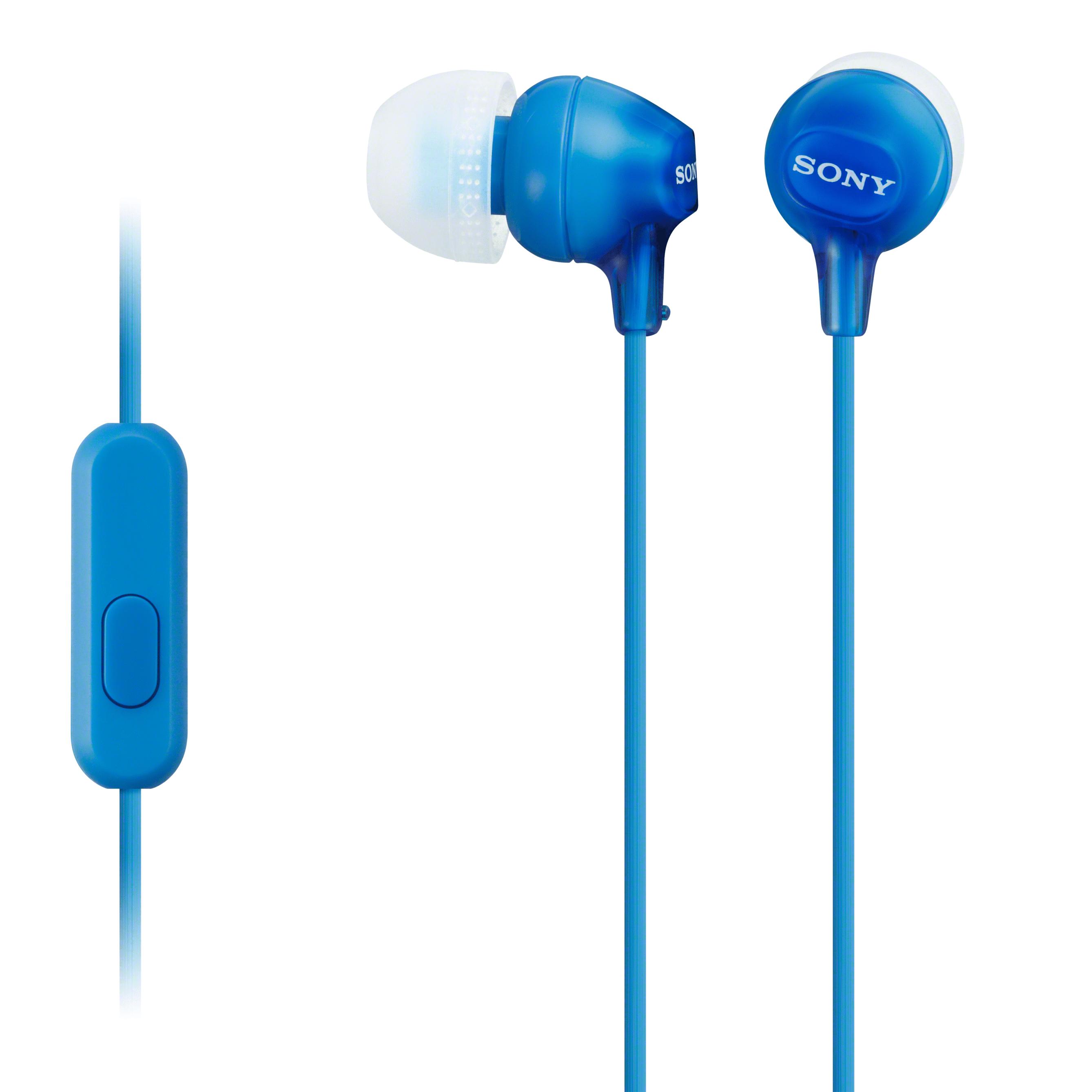 SONY MDREX14AP/L6 Blue Earbud Headpone w/ Mic