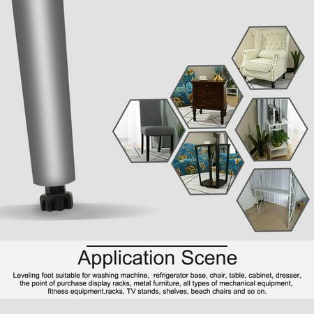 M8 x 17 x 20mm Furniture Glide Leveling Feet Adjuster Pad for Sofa Leg 16pcs - image 2 of 7