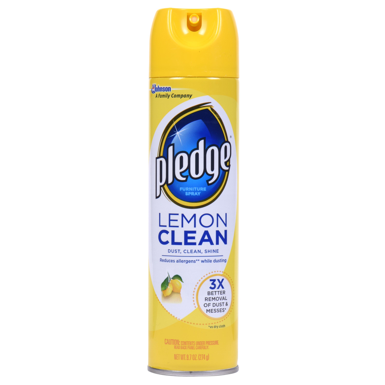 Pledge Lemon Clean Furniture Spray 9 7 Ounces Walmart Com