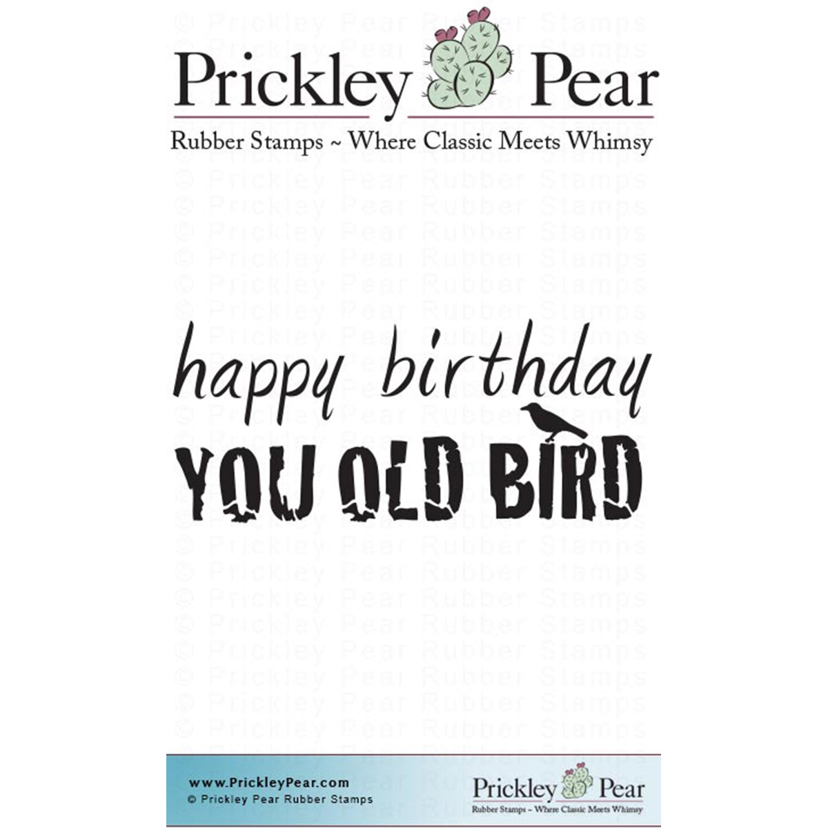 "Prickley Pear Cling Stamps 2.5""X1""-You Old Bird"
