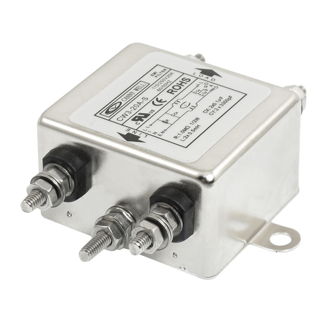 CW3-20A-S AC Power Single Phase Filter Noise Suppressor