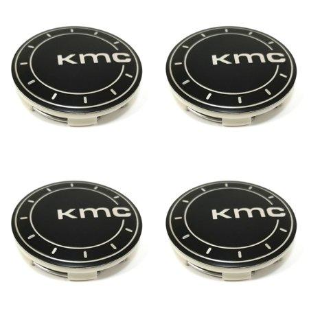 Black Center Cap (4x KMC Satin Black Center Caps Snap-In for 5x112 5x114.3 5x120 KM685 District )