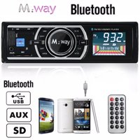 240W Large LCD Display HD Multimedia h Car Stereo Audio Radio Din In-Dash Built-in Microphone Speakers, MP3 Music Player AUX USB/S D/MMC AM/FM Radio Receiver Wireless Remot