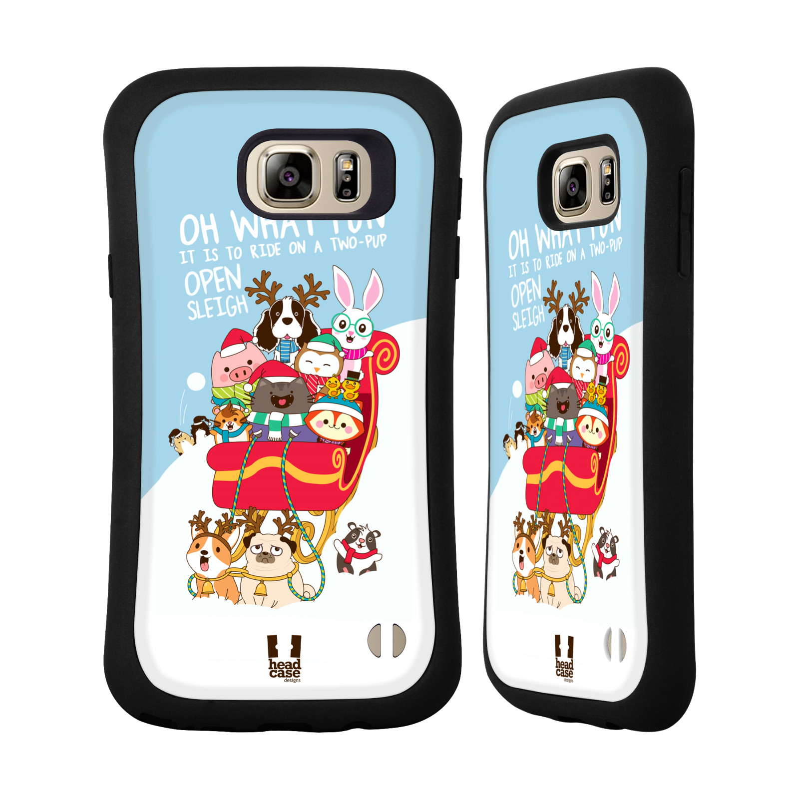 HEAD CASE DESIGNS WILBUR THE CAT ALL-STAR CHRISTMAS HYBRID CASE FOR SAMSUNG PHONES