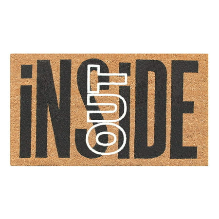 First Impression Inside Out Coir Entry Fade Resistant Flocked Doormat 18