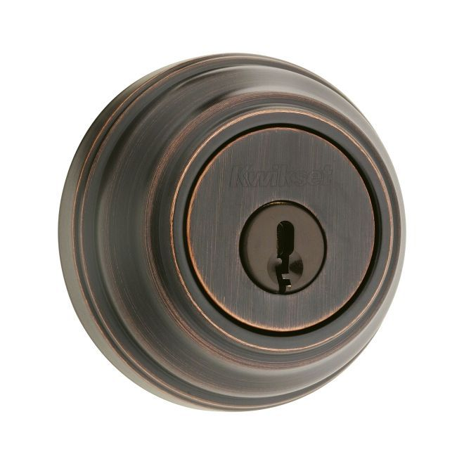 Kwikset 985S-11P Double Cylinder Deadbolt Venetian Bronze Finish
