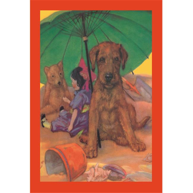 Buy Enlarge 0-587-11837-7P20x30 Dog on a Beach- Paper Size P20x30