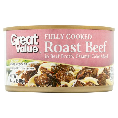 (2 Pack) Great Value Fully Cooked Roast Beef, 12 oz