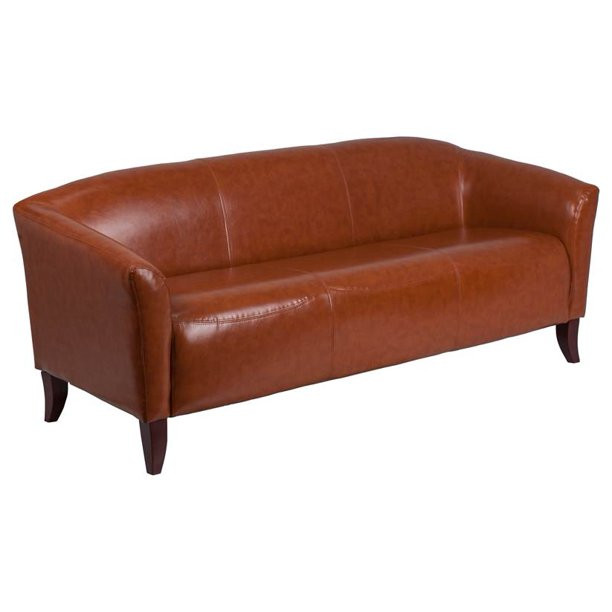 Flash Furniture Cognac Leathersoft Sofa, Pruitt's Furniture Reviews
