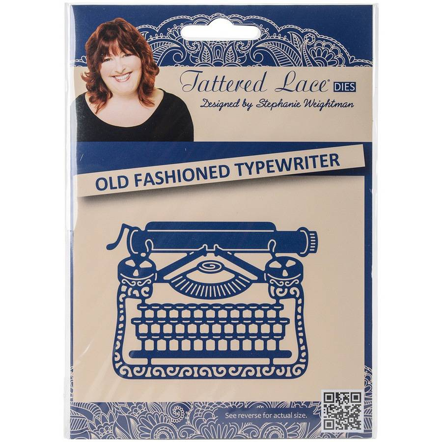 Tattered Lace Metal Die-vintage Typewrit
