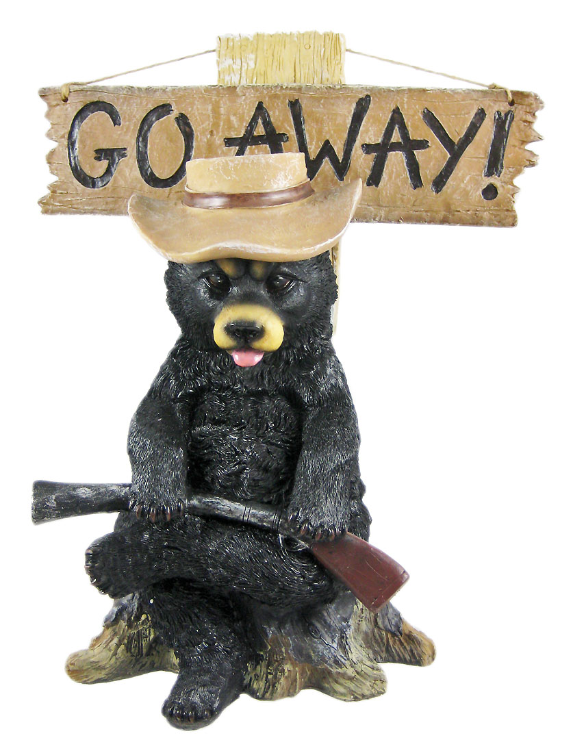 `Go Away` Country Bear Un-Welcome Garden Statue by DWK Corporation