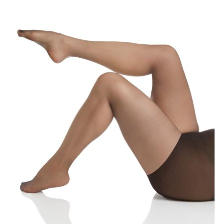 Curved Panty (Women's Hanes HSP001 Curves Ultra Sheer Plus Size Control Top Pantyhose )