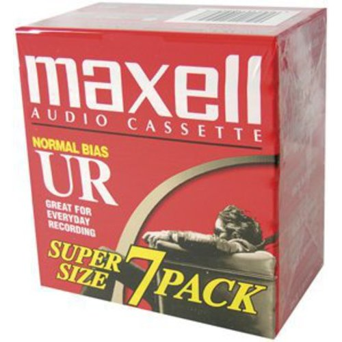 Maxell 108575 Normal Bias Audio Tapes, 90 Minutes, 7pk