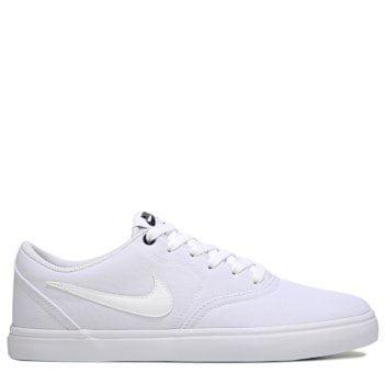cheaper faa8a 399fd Nike Men s SB Check Solar Canvas Skate Shoe, Sneaker, White  White ...