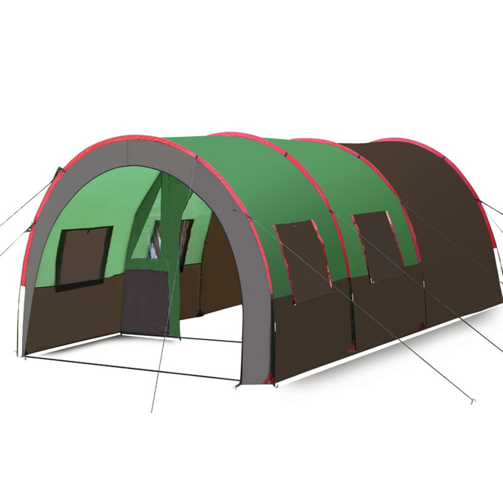 Waterproof 10 Person Family C&ing Tents Bundles Double Layer Tunnel Family Outdoor C&ing Large Tent Image  sc 1 st  Walmart & Waterproof 10 Person Family Camping Tents Bundles Double Layer ...