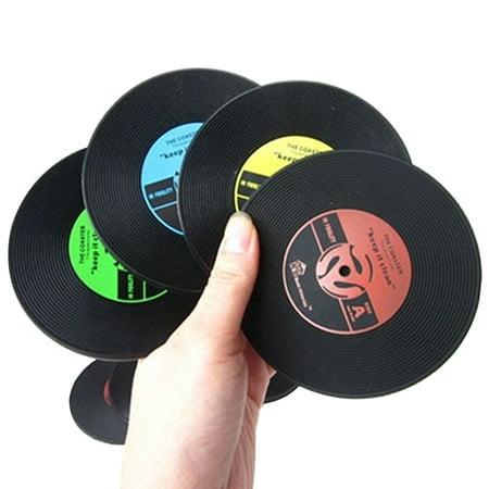 Aofa Retro CD Design Silicone Coasters