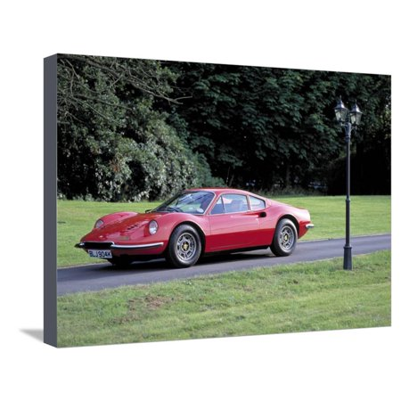 1973 Ferrari Dino 246 GT Stretched Canvas Print Wall Art (Ferrari Uns)