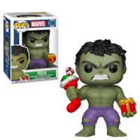 Funko POP Marvel: Holiday - Hulk w/ Stocking & Plush