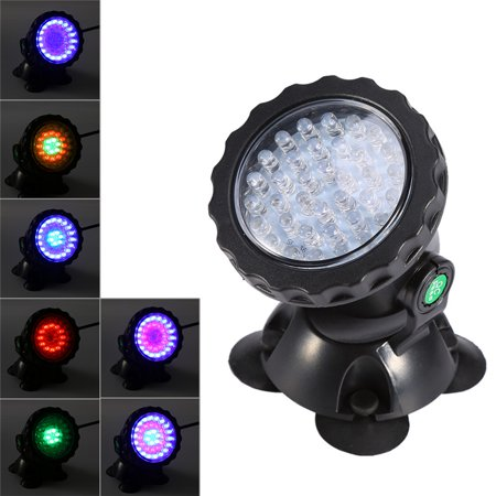 EECOO Waterproof 36-LED Submersible Color Changing Spot Light for Aquarium Garden Pond Pool (Best Submersible Pond Lights)