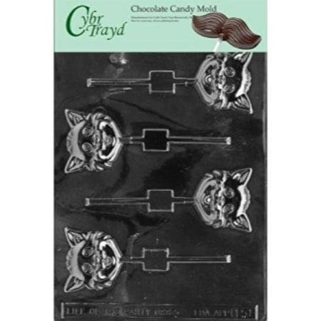 Cybrtrayd H051 Halloween Chocolate Candy Mold, Cat Head Lolly - Halloween Lollies