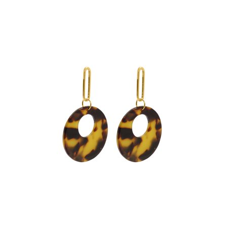 Brown Round Tortoise Shell Earrings Resin Fashion Earring for Ladies Fashionable Gifts Ideas Online