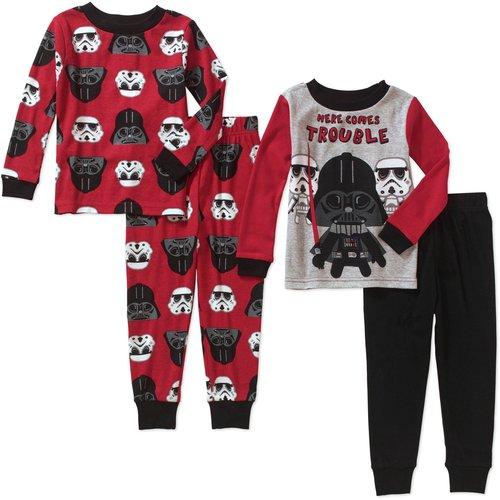 Star Wars Toddler Boy Cotton Tight Fit Pajamas 4pc Set