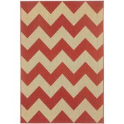 Elsinore Chevron Machine-Woven Area Rug