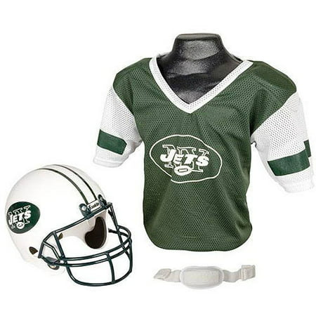 New York Jets Football Jersey (Franklin Sports NFL New York Jets Team Licensed Helmet Jersey Set )