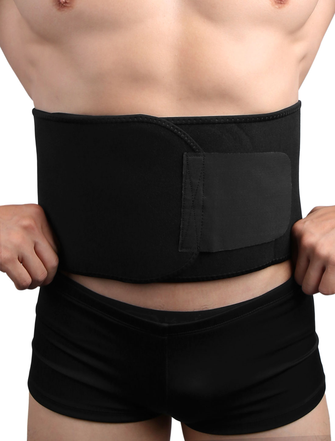 Men Women Black Waist Trimmer Slimming Tummy Belt Burn Fat Sweat Weight Loss Body Shaper by