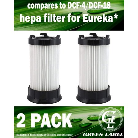 - 2 Pack for Eureka Type DCF4/DCF18 Filter for 4700 and 5500 series Eureka Upright Vacuum Cleaners. Compares to DCF-4, DCF-18, 63073C, 62132, 63073, 3690, 18505. Genuine Green Label Product.