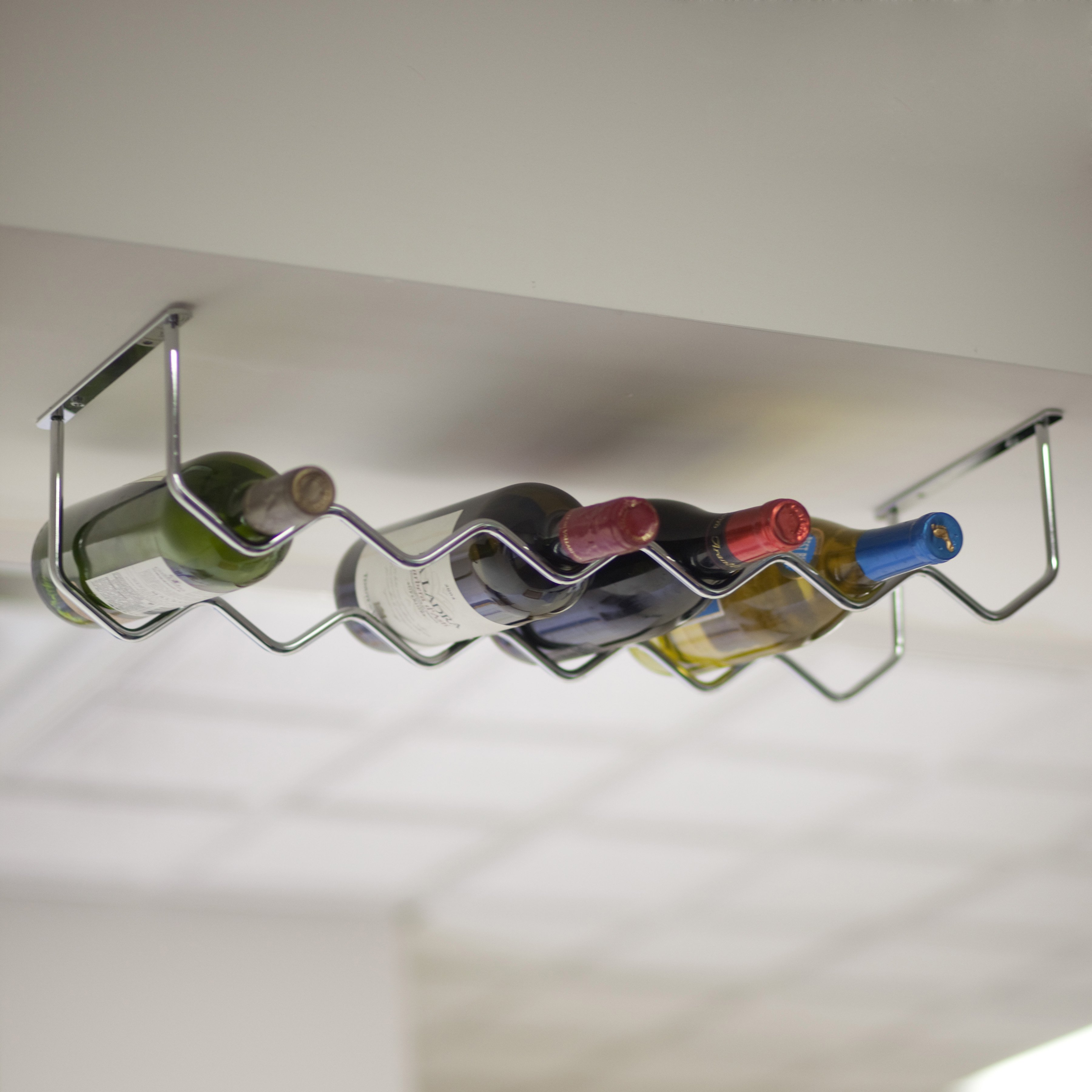Oenophilia Under Cabinet Chrome 6-Bottle Wine Rack