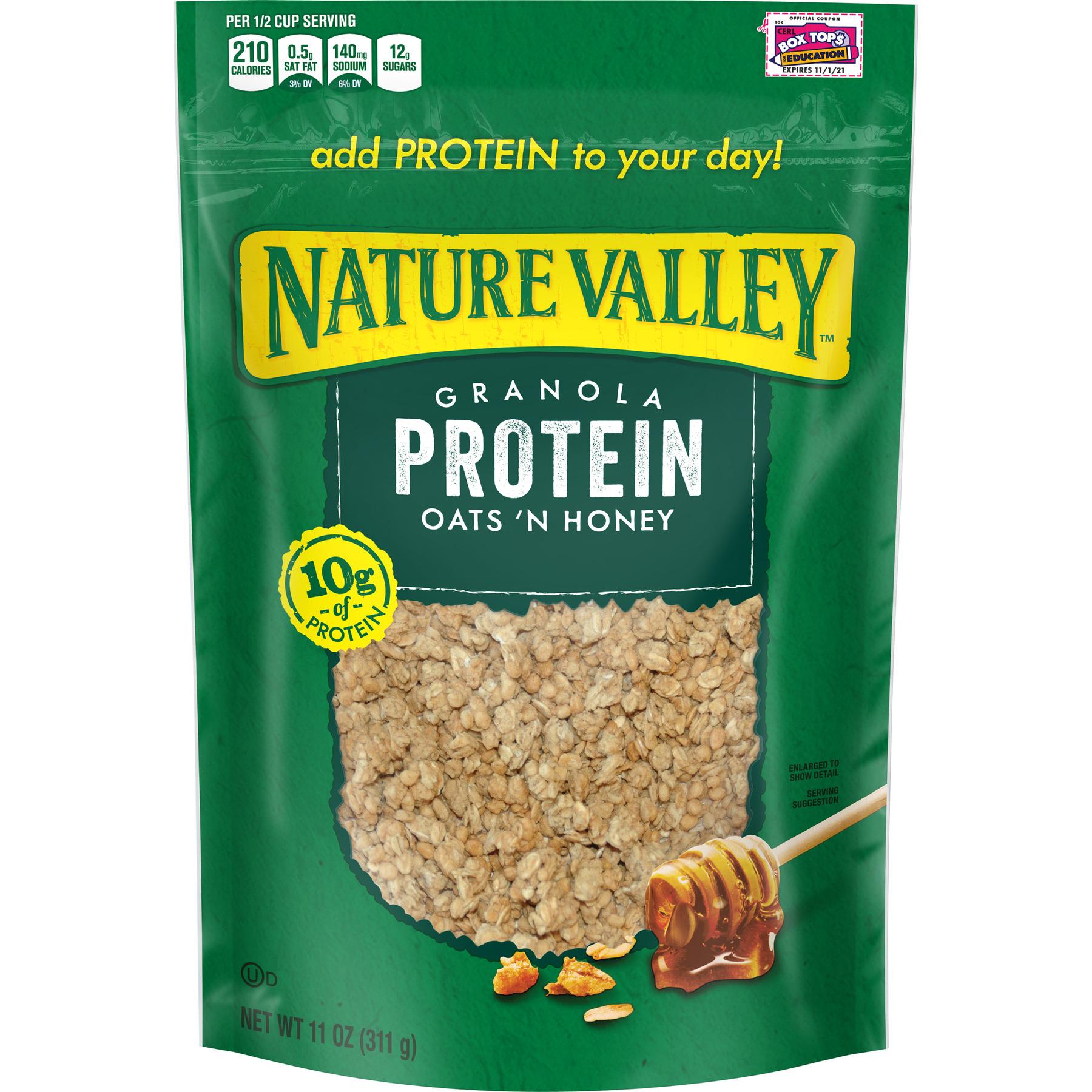 Nature Valley Granola, Protein, Oats N' Honey, Crunchy Granola Bag, 11 oz