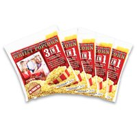 FunTime FT848 8-Ounce 3-in-1 Popcorn portion Movie Pouch Kit - 48pk