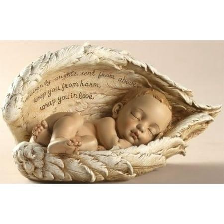 Sleeping Baby in Angel Wings