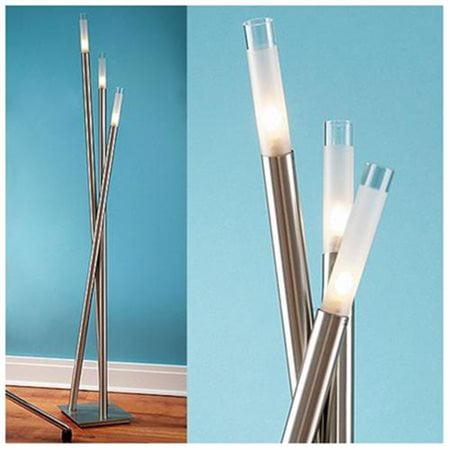Icicle Floor Lamp With Brushed Metal Nickel Arms Walmart Com Walmart Com