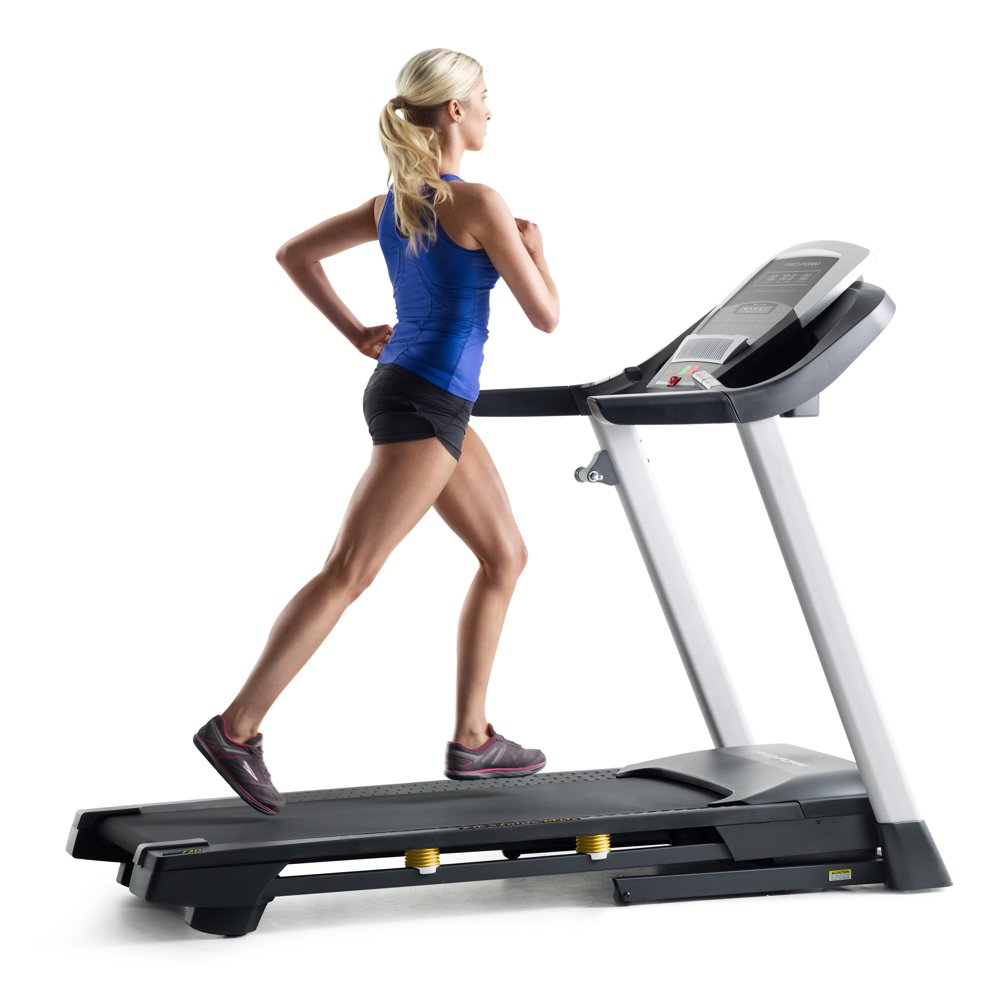 ProForm Trainer 720 Folding Treadmill with 10% Incline Training and 10 MPH Speed Controls