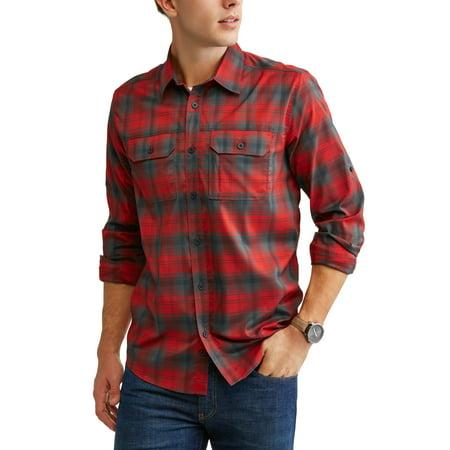 Swiss Tech Mens Long Sleeve Outdoor Woven Shirt