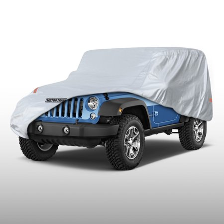 Motor Trend All Season Jeep Wrangler 2 Door Custom Fit Outdoor Waterproof Car Cover - Heavy Duty Custom Fit Cover Ski
