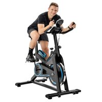 ModernLuxe Exercise Bicycle Indoor Bike Cycling with LCD Display Monitors, Fitness Exercise Equipment for Gym Home Cardio Workout