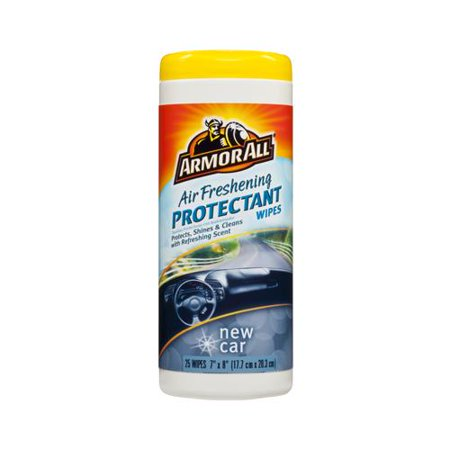 Armored Auto Group Sales 78533 Air Freshening Car Protectant Wipes New Car Scent  25 Ct