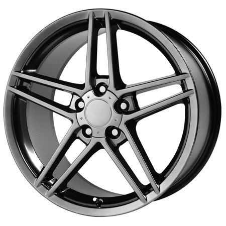 "Replica 117H Corvette C6 Z06 19x10 5x4.75"" +79mm Hyper Black Wheel Rim 19"" Inch"