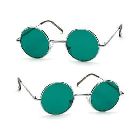 John Lennon Style Vintage Classic Circle Round Sunglasses Men Women Color (Vintage Bolle Sunglasses)