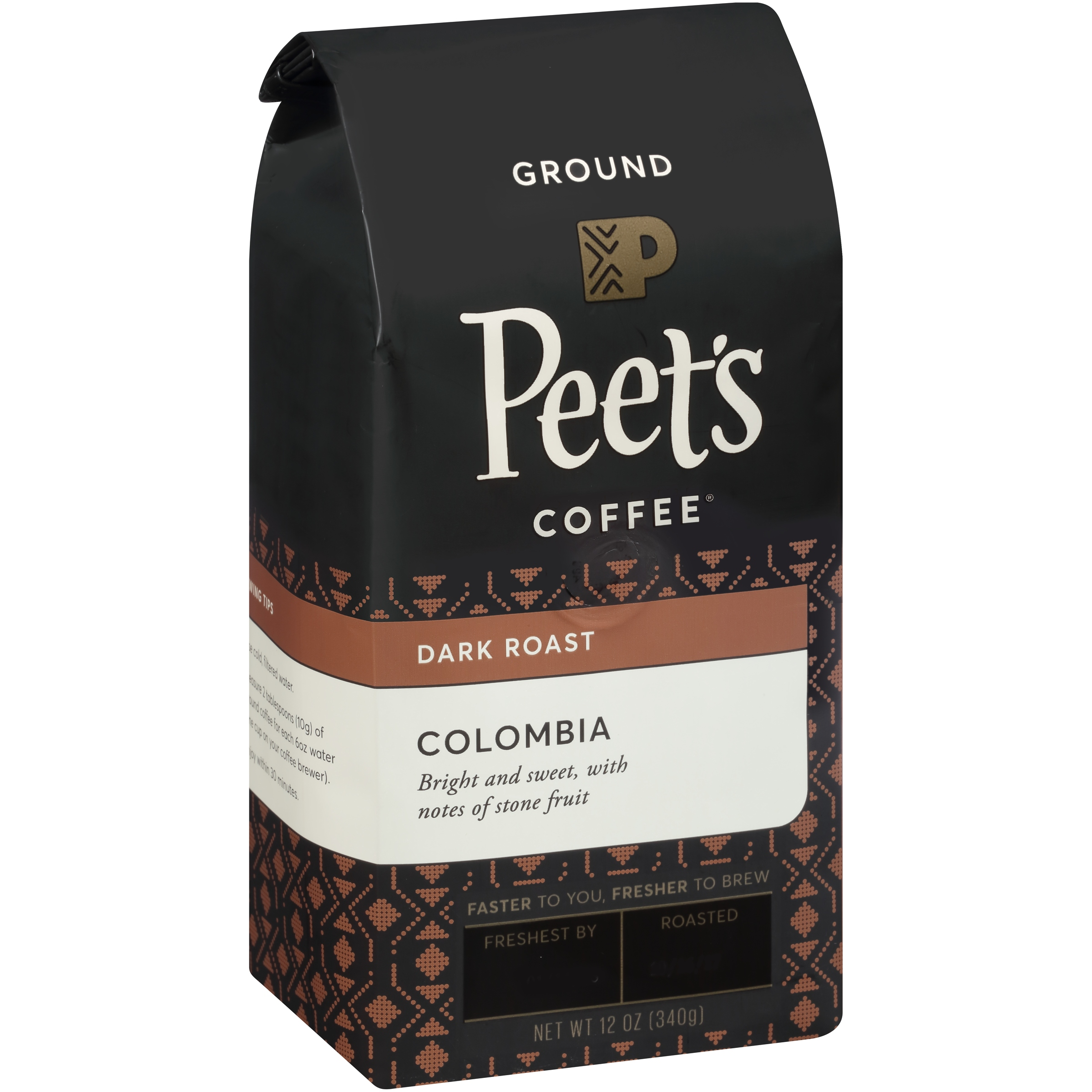 Peet's Coffee® Colombia Dark Roast Ground Coffee 12 oz. Stand-Up Bag