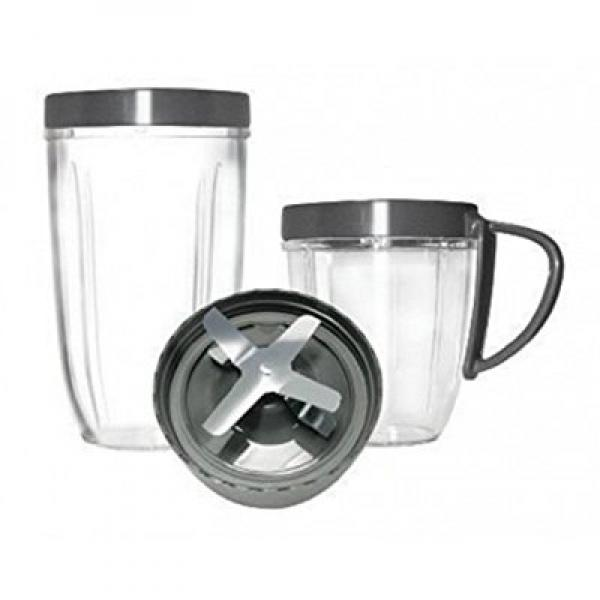Cup and Blade 5 Pc Set for NutriBullet Replacement High Speed Blender Mixer System