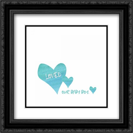 - Loved Baby Boy 2x Matted 20x20 Black Ornate Framed Art Print by Wingard, Pamela J.