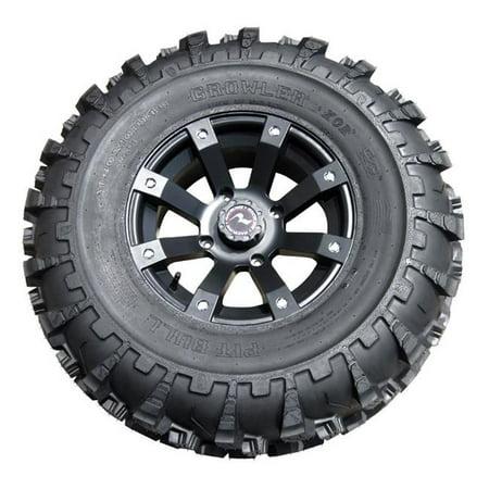 Pitbull PIT-PB3071C 15 in. 15 x 6.5 Bolt Pattern Growler Silver Wheel Rim
