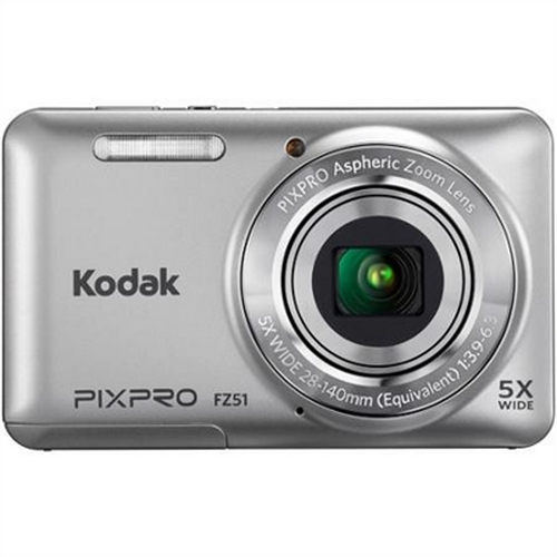 Kodak Silver FZ51-SL Digital Camera with 16.15 Megapixels and 5x Optical Zoom