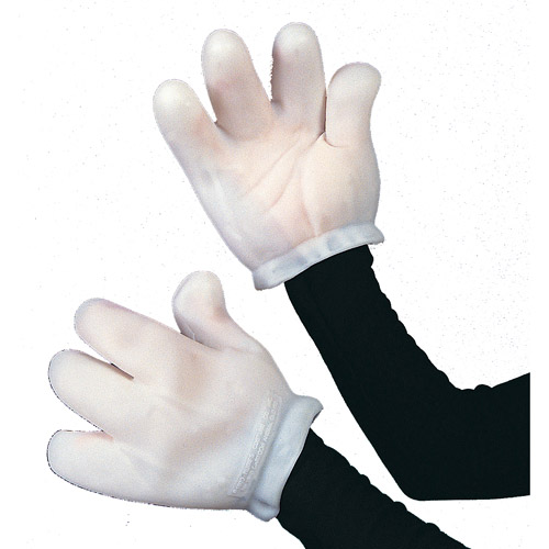 Vinyl Cartoon Gloves Adult Halloween Accessory